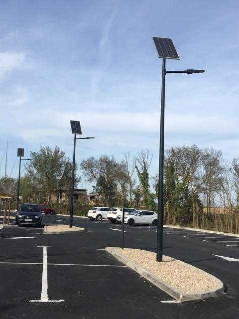 eclairage solaire parking zac domaine lacoste narbonne