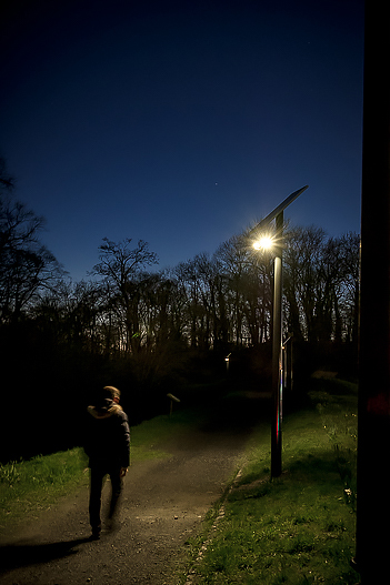 photo lampadaire solaire CITEOS